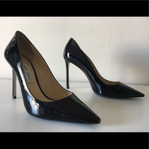 JIMMY CHOO ROMY 100mm BLACK PUMPS SIZE 40.5