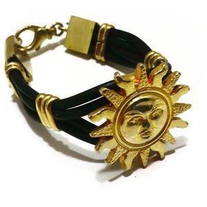 Authentic Versace Sun Medallion Bracelet