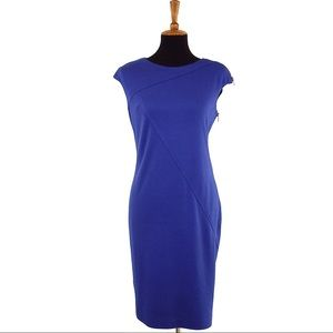 Muse Dresses & Skirts - Muse Cobalt Blue Midi Dress w/ Side Zipper Size 8