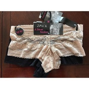 Other - Women A Dream Boyshort Floral Lace  Black/ Nude