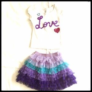 Children's Place Other - Children's Place Outfit Tee Shirt and Skirt