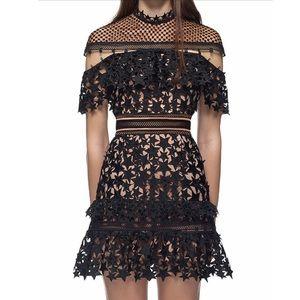 Self Portrait Dresses & Skirts - Black frill star lace dress