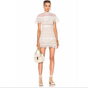 Self Portrait Dresses & Skirts - 🎀1- day sale🎀 White frill star lace mini dress