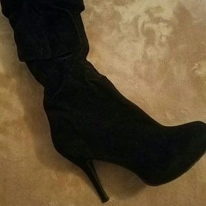 JustFab Shoes - *offers accepted* justfab velvet knee high boots