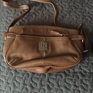 Giani Bernini Brown Genuine Leather Purse