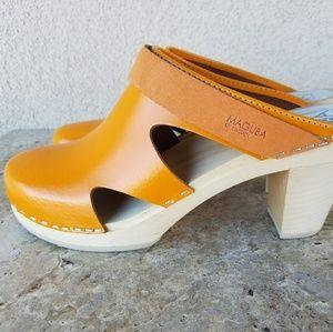 Maguba Orange Clogs Size 39 Excellent condition!