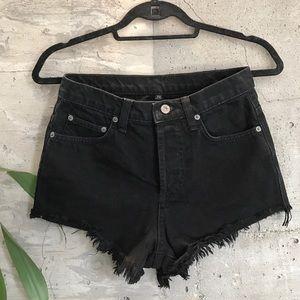 Carmar Pants - CARMAR Black Cutoff Denim Shorts Sz 28