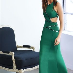 BCBG Dresses & Skirts - BCBG Green Cutout GOWN Prom Pageant Size 2 NEW!