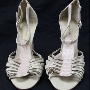 alexandre birman Shoes - ALEXANDRE BIRMAN. Nude anklestrap sandal.