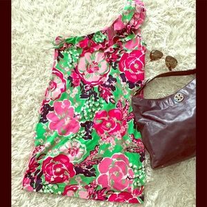 Lilly Pulitzer Dresses & Skirts - 🌺Lilly Pulitzer Whinnie Silk One Shoulder Dress