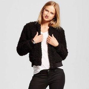 Who What Wear Jackets & Blazers - Who What Wear Teddy Bear Bomber Jacket