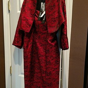 Isabel Toledo Dresses & Skirts - Isabel Toledo red/blk 2pc dress/jkt sz12 NWT
