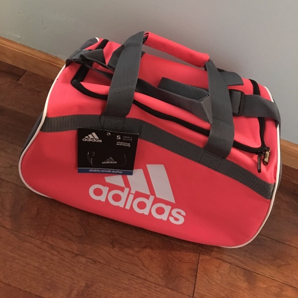NWT Pink and Grey Adidas Diablo Duffle Small 766d3c480d9c6