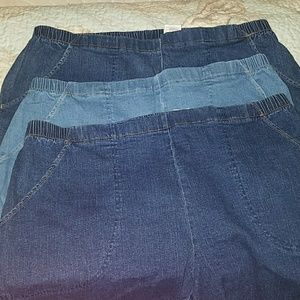 Just My Size Pants - BUNDLE! 3 PAIRS DENIM SHORTS