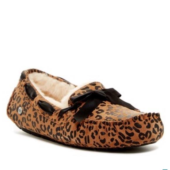 65818e7cb42 UGG Dakota Leopard Print Bow UGGpure Lined Slipper Boutique