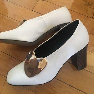 Jeffrey Campbell Shoes - Gold heart heel 💛