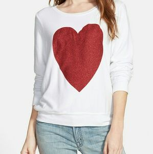 Wildfox Tops - NWT Wildfox Sparkle Heart Sweater