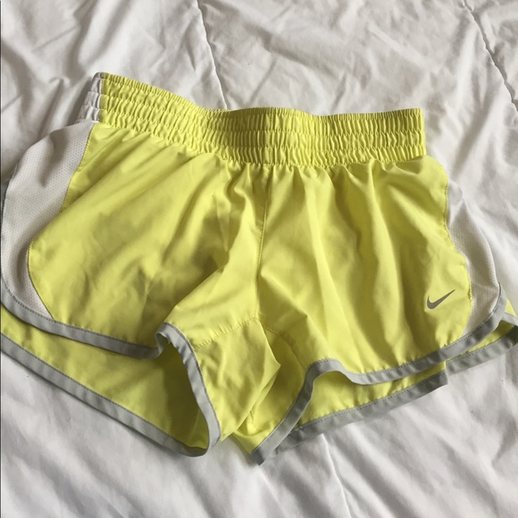 Nike Shorts - yellow nike dri-fit shorts size S