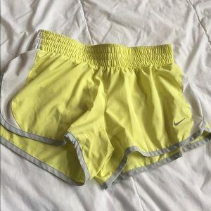 Nike Pants - yellow nike dri-fit shorts size S
