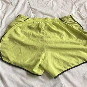 Nike Shorts - yellow nike fitdry shorts size M