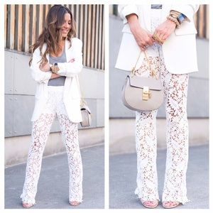 Maje Parole Lace Pants In White