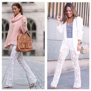 Maje Pants - Maje Parole Lace Pants In White