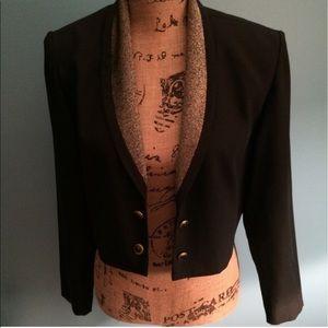 Vintage Black & Gold Blazer Size 4