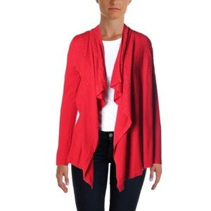 INC International Concepts Sweaters - INC Red Flyaway Cardigan
