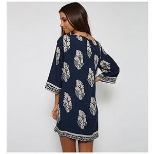Dresses & Skirts - NWOT navy blue 70s shift dress
