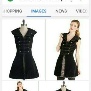 ModCloth Jackets & Blazers - Modcloth Steampunk Long Black Velvet Vest NWT