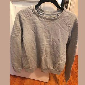 All Saints Sweaters - ALL SAINTS gray ribbed detail sweatshirt SZ 4