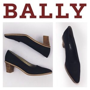 Bally Shoes - BALLY BLACK LEATHER MADE IN ITALY PUMPS SZ11