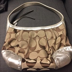 Cute Shoulder Bag with silver accent detail