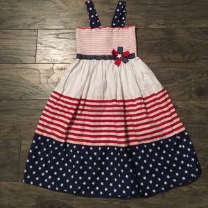 Bonnie Jean Other - 🇱🇷 Red white and blue girls dress size 12