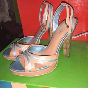 Charles David Shoes - Charles David Pink Blue Sandals Size 5 with box