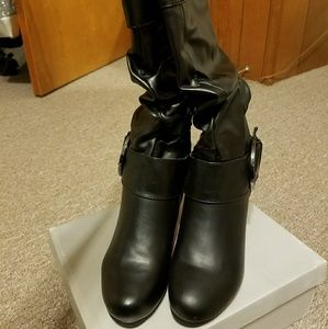 Journee Collection Shoes - Black boots