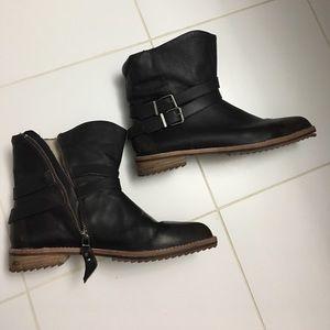 Matt Bernson Shoes - Matt Bernson brown leather biker boots