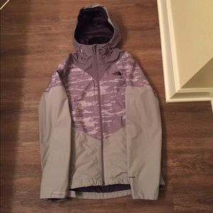 Lavender north face 2 in one jacket