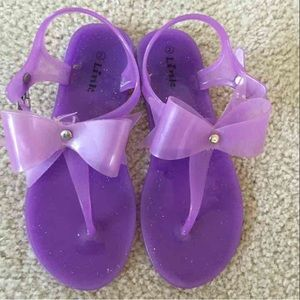 Link Other - Link Purple SZ 2 , 33 Jelly Bow Sandals