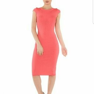 WOW couture Dresses & Skirts - Cap Sleeve Sweater Dress Coral Wow Couture NWT