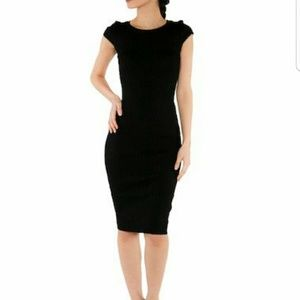 WOW couture Dresses & Skirts - Cap Sleeve Sweater Dress Black Wow Couture NWT