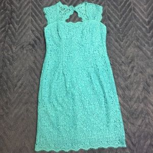 NEW Adrianna Papell Lace Sheath Dress in Jade