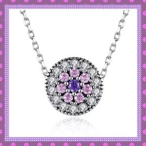 Boutique Jewelry - 💜GORGEOUS SS AAA Zircon Cluster Necklace💜