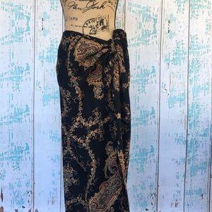 Emanuel Ungaro Dresses & Skirts - Emanuel Ungaro VINTAGE paisley faux wrap skirt