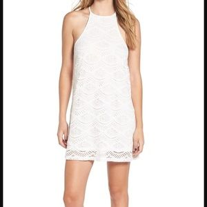 bp Dresses & Skirts - BP. white lace halter dress; FIT is more M