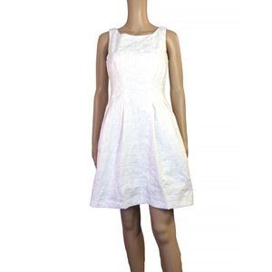 just taylor Dresses & Skirts - Just Taylor white fit and flare dress