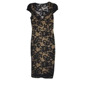WINDSOR Dresses & Skirts - {WINDSOR} Fitted Bodycon Lace Overlay Dress