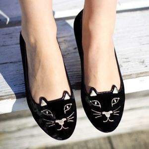 Charlotte Olympia Shoes - NEW Charlotte Olympia Kitty Flats size 36