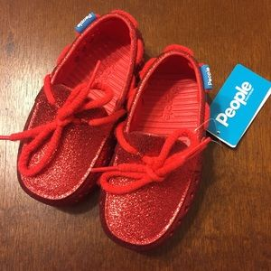 People Other - NWT People Red Glitter Toddler Shoes