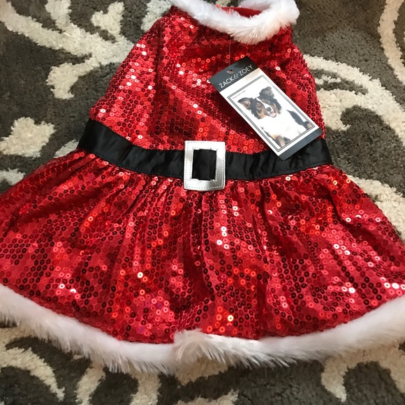 Nwt Mrs Claus Costume For Dog Szm Nwt